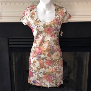 New Forever 21 floral lace bodycon dress medium